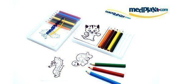 medplaya - amigo card - notebook with pencils